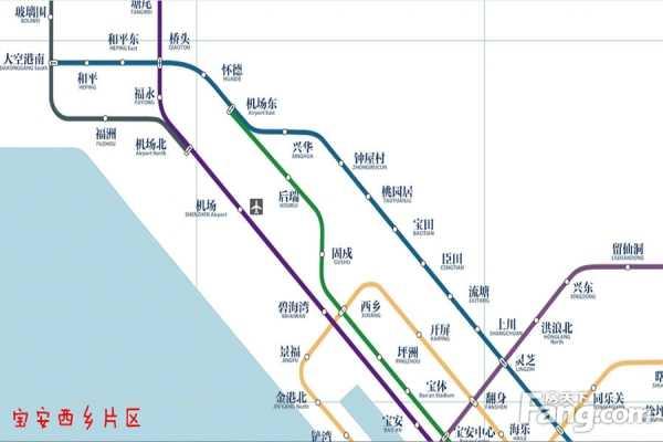 深圳地铁线路图 深圳未来20条地铁线路规划站点全曝光
