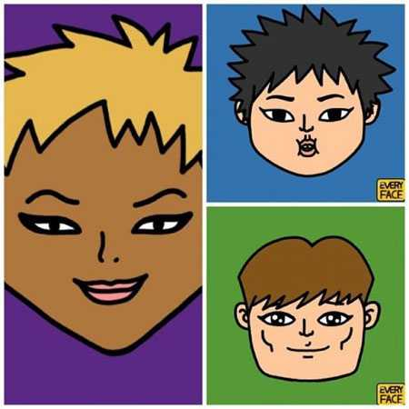 xiumin卡通图片 exo灿烈为成员画的卡通脸照片公开图片