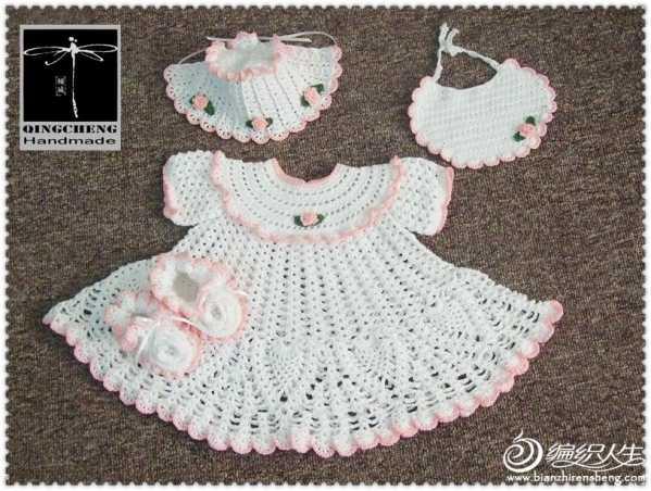儿童钩针裙子:双生花--粉色佳人&蓝色妖姬,孪生女宝超级套装之公主