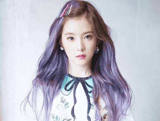 裴珠泫rookie里是发色 裴珠泫irene紫色染发发型图片