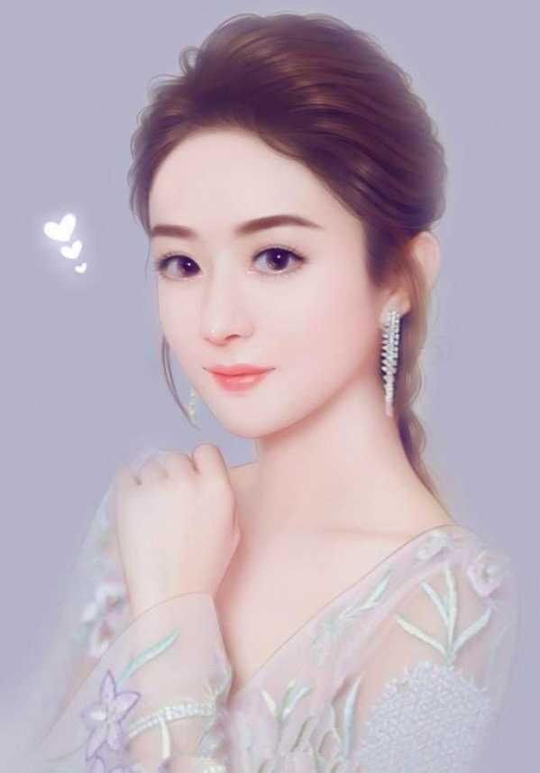 原以为赵丽颖的手绘照片已经够美了,直到看见迪丽热巴,那是真的美!