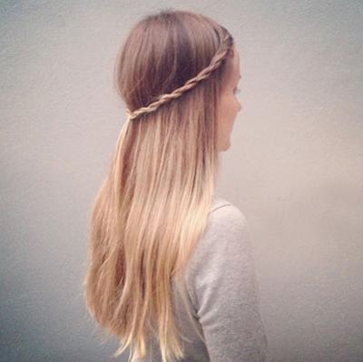 散发时编发发型 教你一根简单编发扎三种发型