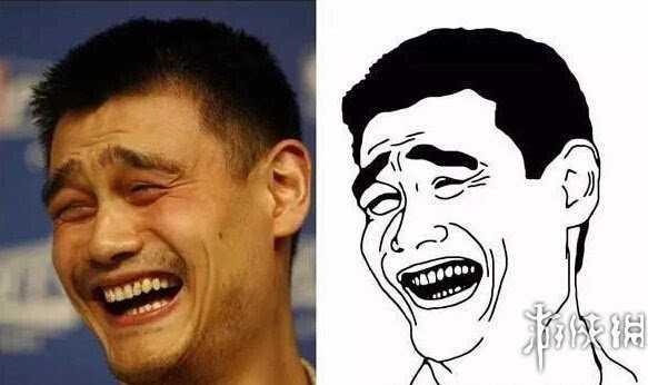 亚洲表情包三巨头_姚明 并列亚洲表情三巨头的还有我们的姚明,他被戳中笑点后,露出了一