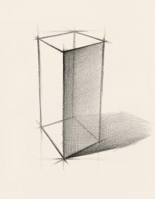 通过透视变化的角度,勾勒出物体的内结构线,如下图