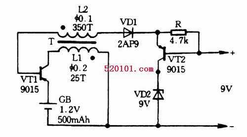 主要优点:电路简单,低成本;缺点:转换效率较低,电池电压利用率低,输出