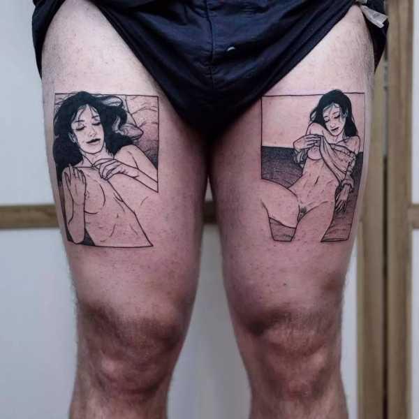 范迪塞尔腿上的纹身 就是这些帅爆的腿部纹身