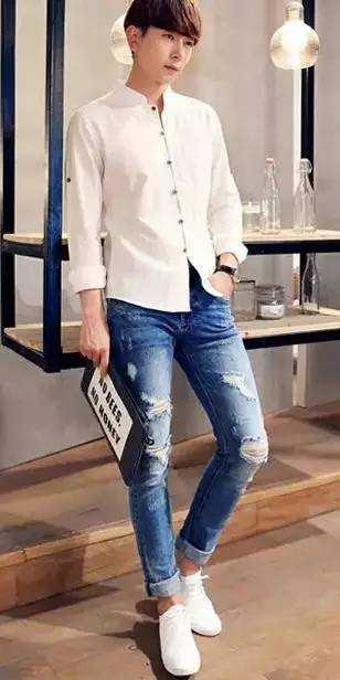 非常完美男嘉宾白衬衫 简简单单白衬衫 - YY个