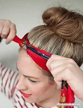 丝巾发带 怎么用丝巾扎头发