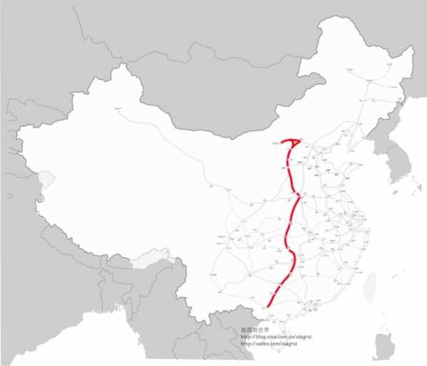 京沪高铁线路图 八纵八横高铁线路图详图