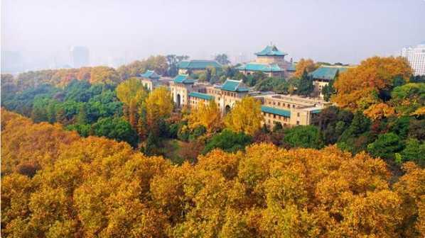 """武汉大学校园环境优美,风景如画,被誉为""""世界上最美丽的大学之一"""""""