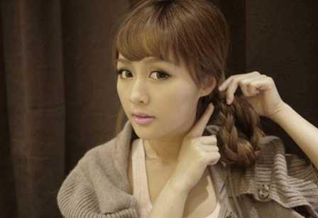 日本  angelababy唯美韩式编发发型教程图解 diy发型甜美公主 angelab