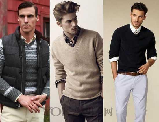 潮男针织衫搭配 秋天怎能没有针织衫5种搭配让你变潮男