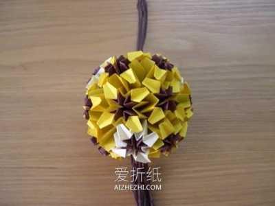 花都手工 怎么手工折纸球体花球的折法图解